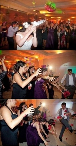 When Your Girlfriend is About to Catch the Bouquet