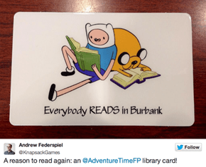 Burbank Has Mathematical Library Cards!