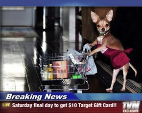 Breaking News - Saturday final day to get $10 Target Gift Card!!