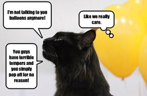 The reason cats and balloons don't get along.
