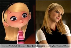 "Penny from ""Mr. Peabody & Sherman"" Totally Looks Like Gwen Stacy from ""Amazing Spiderman"""