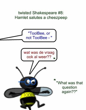 twisted Shakespeare #8: Hamlet salutes a cheezpeep