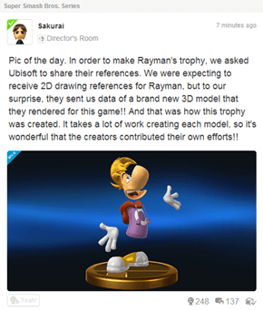 Call This a Hunch, But I Think Rayman's our new character for Smash 4