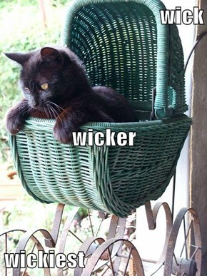 wick wicker wickiest