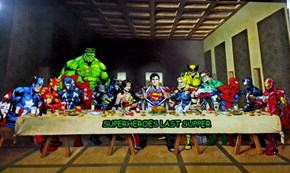 Superheroes last supper...