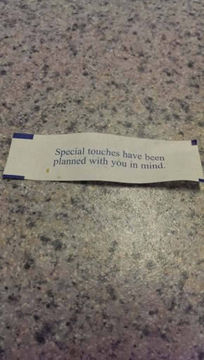 When Your Stalker Makes Fortune Cookies For You