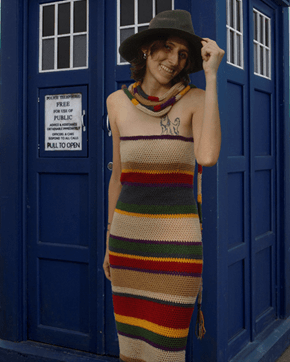 Classic Doctor's Scarf Is Makes an Awesome Dress
