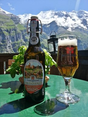 Drinking in Gimmelwald, Switzerland Is Awesome