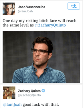 You Cannot Top Mr. Quinto