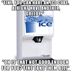 Ever Thought About How Passive-Aggressive Ice Dispensers Are?