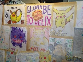 A Restraunt in Seattle, Washington's Walls Are Decorated With Nothing but Pokémon Pictures