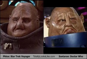 Phlox: Star Trek Voyager Totally Looks Like Sontaran: Doctor Who