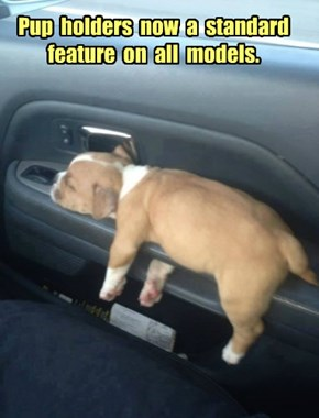 Pup  holders  now  a  standard feature  on  all  models.