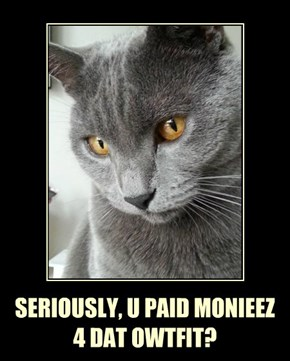 SERIOUSLY, U PAID MONIEEZ 4 DAT OWTFIT?