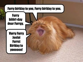 Furry Birfday to yooooo, Furrgetmenot!