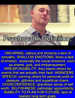 Psychopath; Definition = #TeamKey