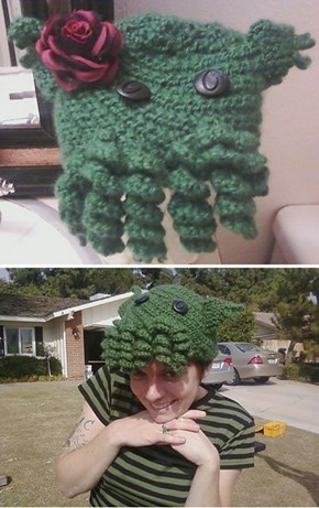 Knit Your Own Cthulu Beanie, Lose One Sanity Point