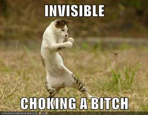 INVISIBLE  CHOKING A b*tch