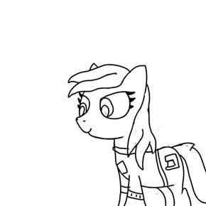 Character doodle (Filler's sister OC)