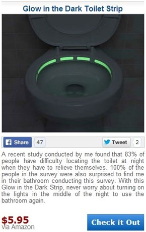 Glow in the Dark Toilet Strips Takes Their Research Very Seriously