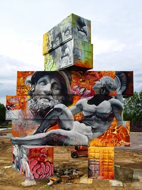 Super-Sized Shipping Container Street Art