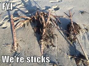 FYI  We're sticks