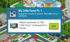 MLP Reference in Family Guy: The Quest For Stuff