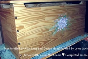 Handcrafted by Alan Lane and Design Hand Painted by Lynn Lane for our little niece, MacKenzie ♥ Completed 7/2014
