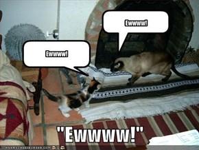 """""""Ewwww!"""""""