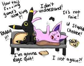 Playing Video Games With Umbreon and Espeon