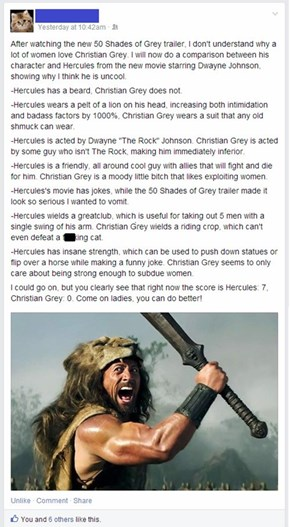 An Objective Comparison of Christian Grey and Hercules