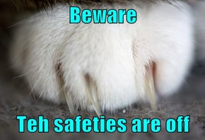 Beware  Teh safeties are off