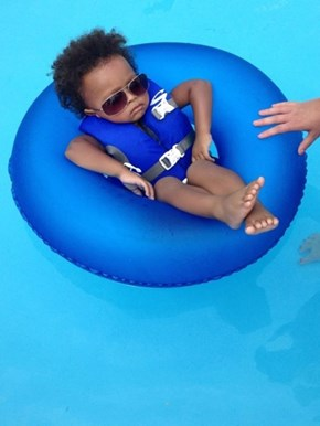 This Baby Knows How to Spend the Summer