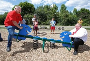 Rob Ford is the Happiest Man Riding a Seesaw