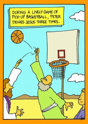 Peter Has Some Serious Hoop Game