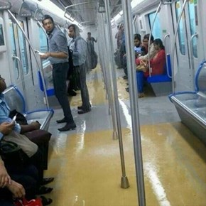The Trains in Mumbai Are Accidentally Giving Passengers a Free Shower