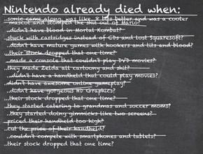 Nintendo Haters in a Nutshell