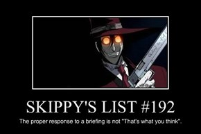 SKIPPY'S LIST #192