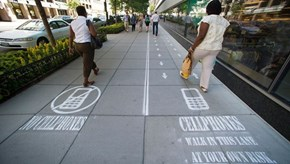 Can We Divide the Sidewalks Everywhere, Please?