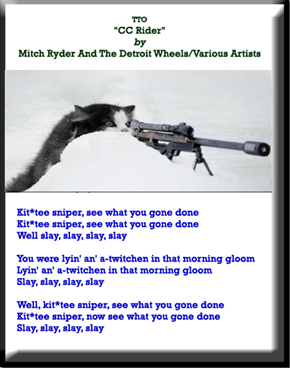"""Kit*tee Sniper"" (TTO ""CC Rider"" by Mitch Ryder And The Detroit Wheels/Various Artists)"