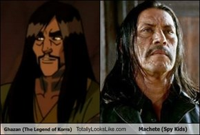 Ghazan (The Legend of Korra) Totally Looks Like Machete (Spy Kids)