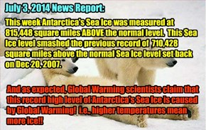 Global Warming in the news again..
