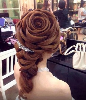Match Your Hair to Your Bouquet