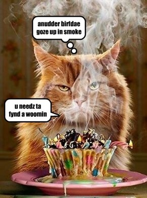 anudder birfdae goze up in smoke
