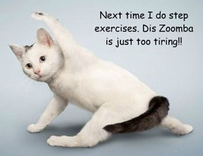Next time I do step exercises. Dis Zoomba is just too tiring!!