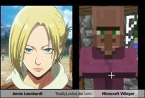 Annie Leonhardt Totally Looks Like Minecraft Villager
