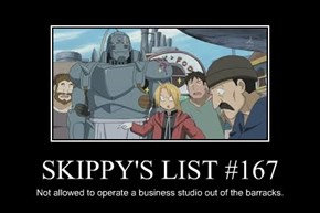 SKIPPY'S LIST #167