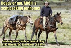 Well, Our friend AOCH just got the news. Insurance has denied him another week. He's packing for home.