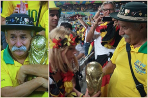 We've All Seen This Picture of the Distraught Brazilian Fan, but Not the One Where He Gave His Trophy Happily to a German Fan