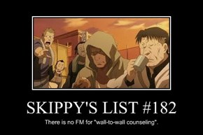 SKIPPY'S LIST #182